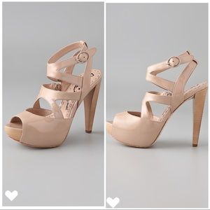 Alice + Olivia Lila Platform Sandals in Nude